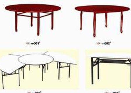 酒店折叠餐桌_实木折叠电动餐桌椅图片